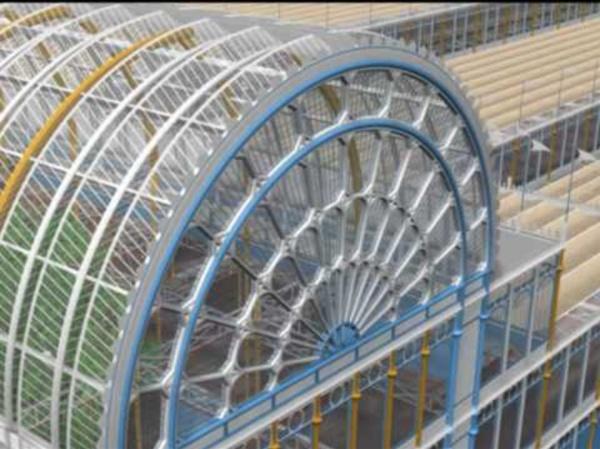 Crystal Palace de Joseph Paxton. Recreación en 3D