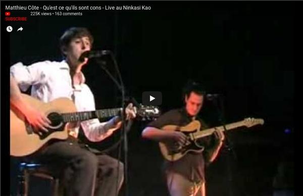Matthieu Côte - Qu'est ce qu'ils sont cons - Live au Ninkasi Kao