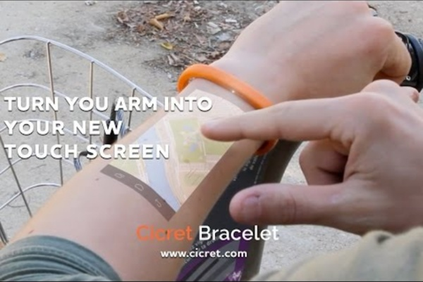 The Cicret Bracelet: Like a tablet...but on your skin.