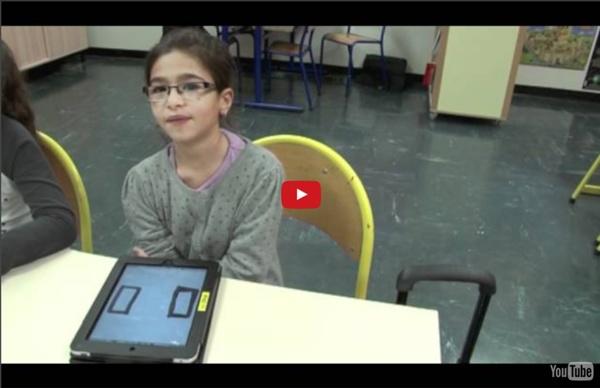Les tablettes à l'école Lallier à l'Hay les Roses
