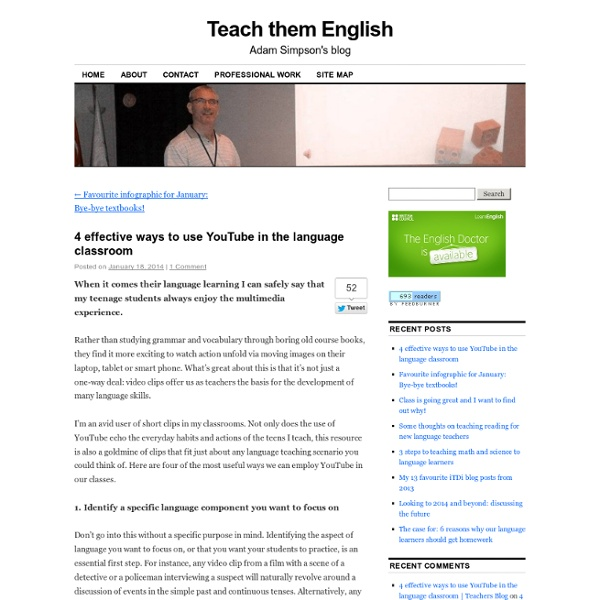 4 ways to use YouTube in the language classroom