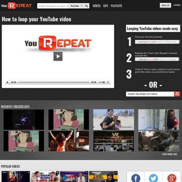 將Youtube 影片持續不停播放, 可以設定起訖時點. 只要把youtube 改成yourepeat