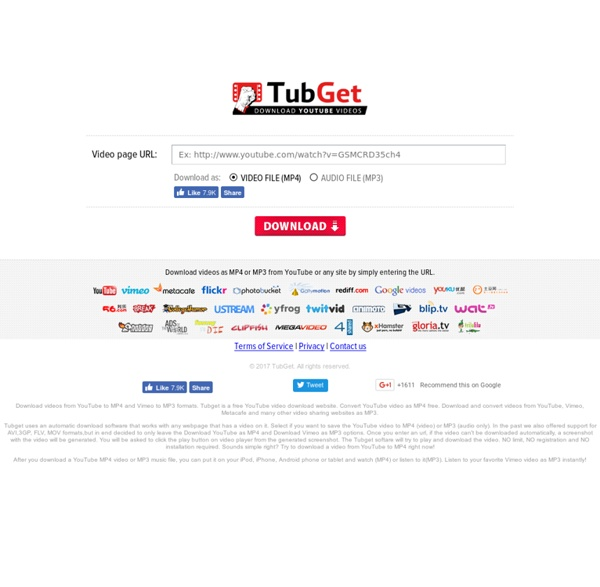 YouTube to MP4 & MP3 Video Download - TubGet