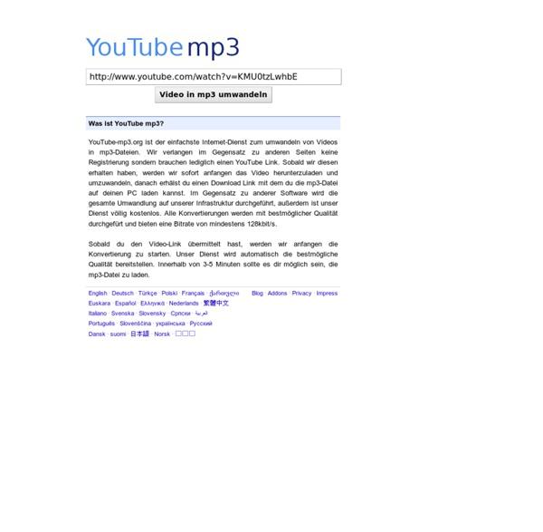 YouTube zu mp3 Konverter