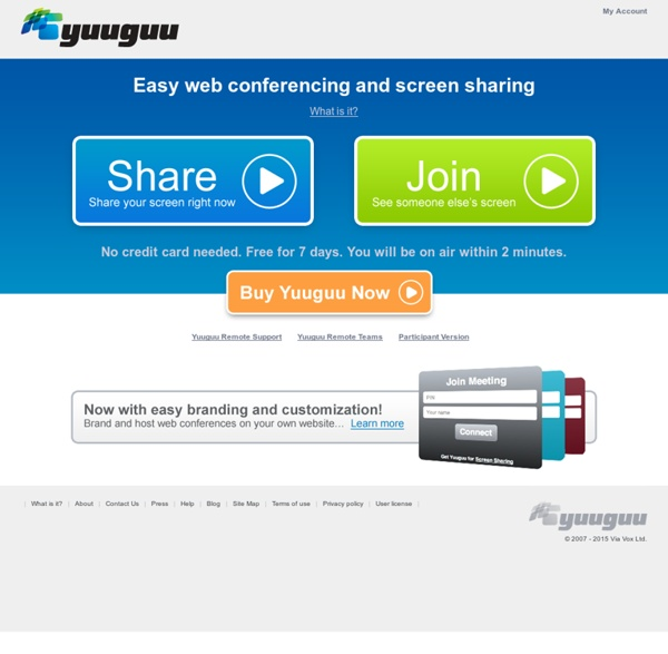 Easy web conferencing and screen sharing