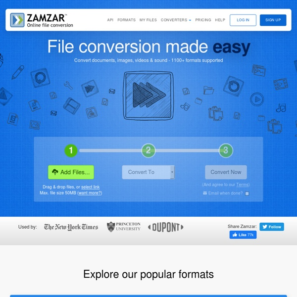 Zamzar - convert document, eBook, image, audio and video - free online file conversion