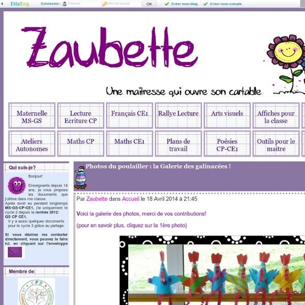 Zaubette - une maitresse qui ouvre son cartable