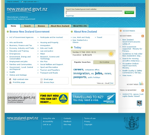 Search New Zealand Government — newzealand.govt.nz