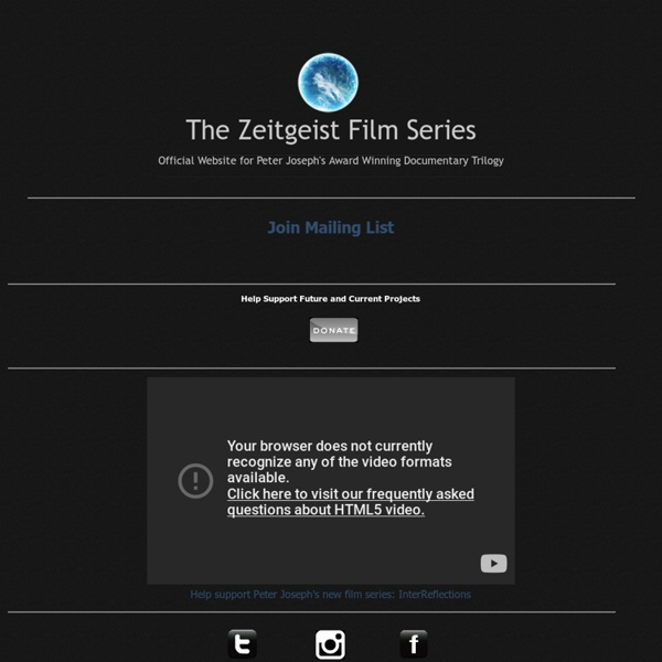 zeitgeist addendum Find zeitgeist: addendum at amazoncom movies & tv, home of thousands of titles on dvd and blu-ray.