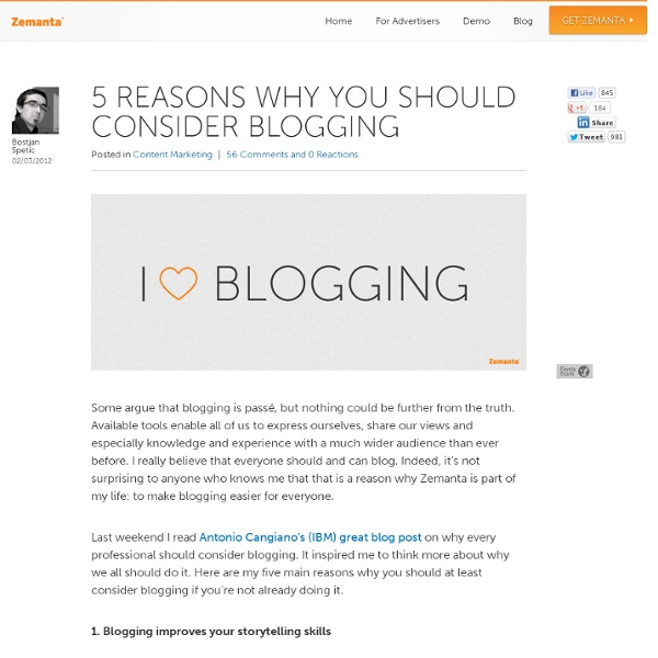 5 Reasons Why You Should Consider Blogging