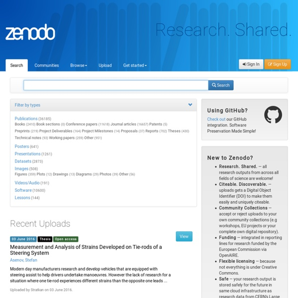 Zenodo - Research. Shared.