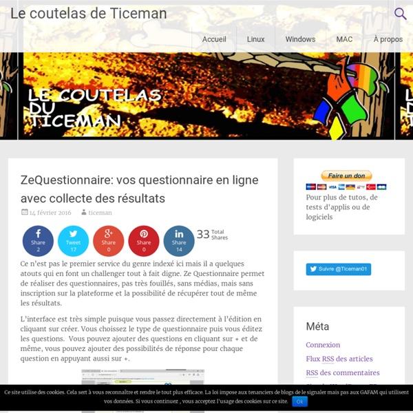 ZeQuestionnaire: vos questionnaire en ligne avec collecte des résultats