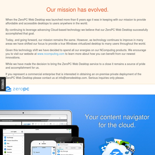 ZeroPC - Your content navigator for the cloud