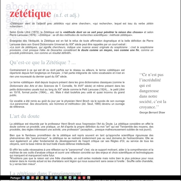 Zetetique.com