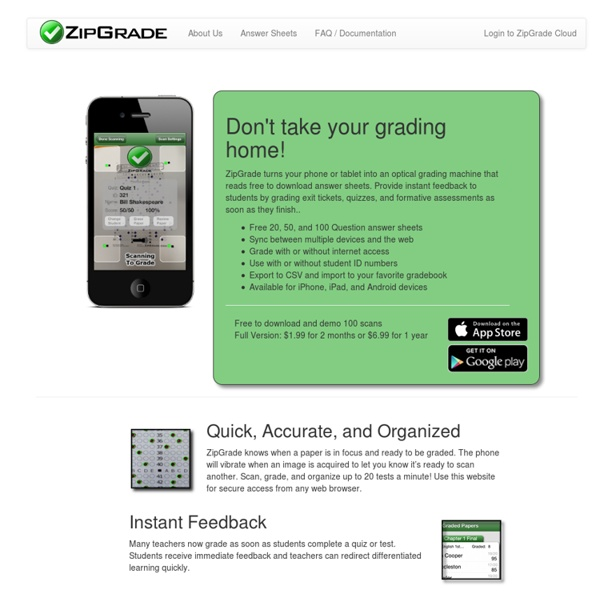 ZipGrade Cloud: iPad and iPhone Grading App For Teachers