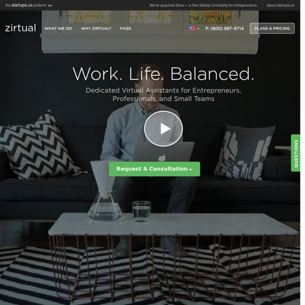 Zirtual - Virtual Assistants for Busy Startups.