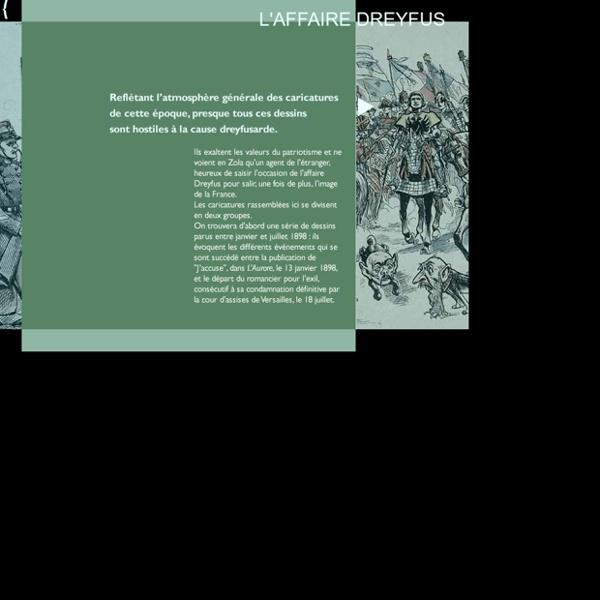 Des caricatures et dessins sur L'affaire Dreyfus