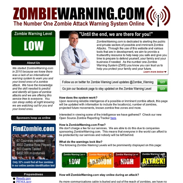 ZombieWarning.com - Free Zombie Attack Warning Service