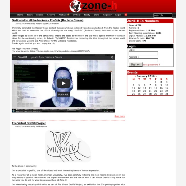 Zone-H.org - Unrestricted information