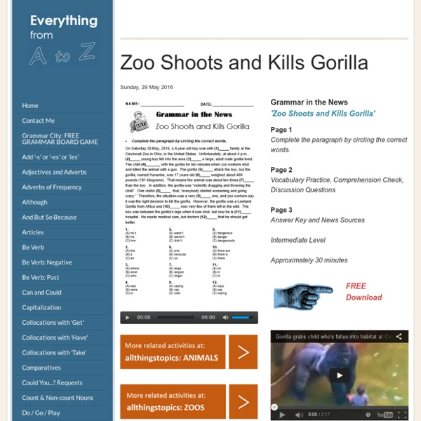 Zoo Shoots and Kills