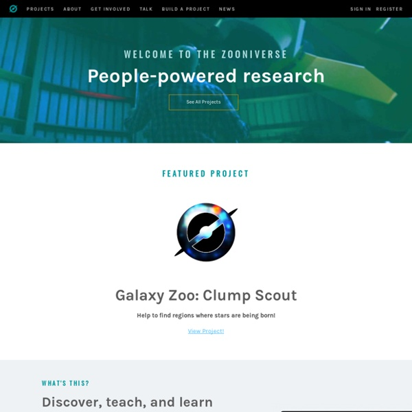 Zooniverse - Real Science Online