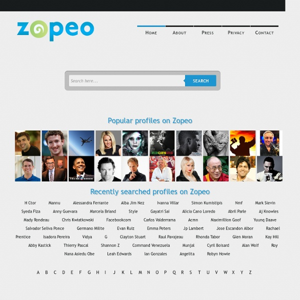 Zopeo People Search