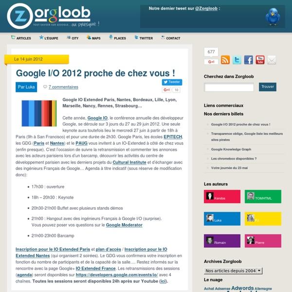 Zorgloob.com : toute l'actualité Google