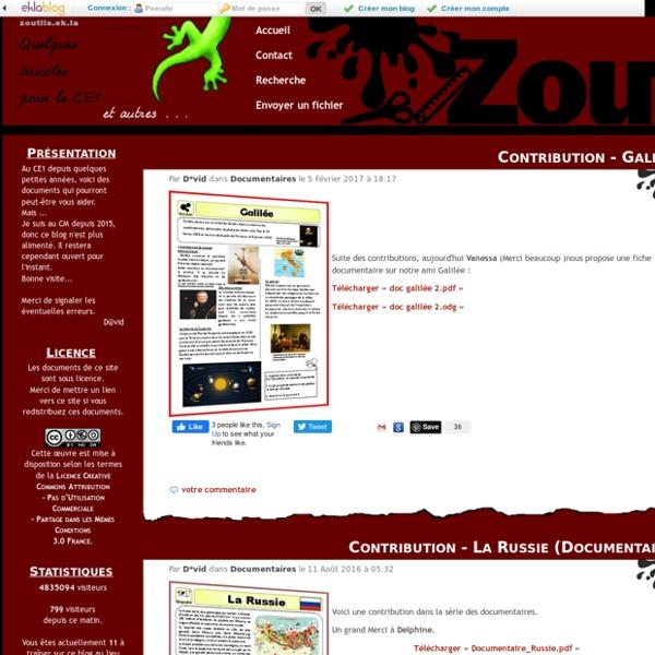 Zoutils.ek.la - Quelques bricoles pour le CE1 ... et le CM