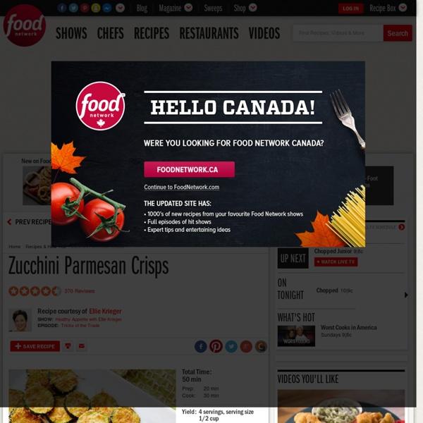 Zucchini Parmesan Crisps Recipe : Ellie Krieger