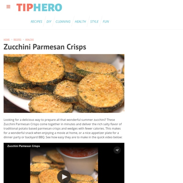 How to Make Zucchini Parmesan Crisps