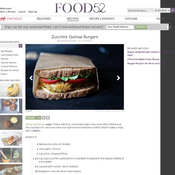 Zucchini Quinoa Burgers recipe from Food52