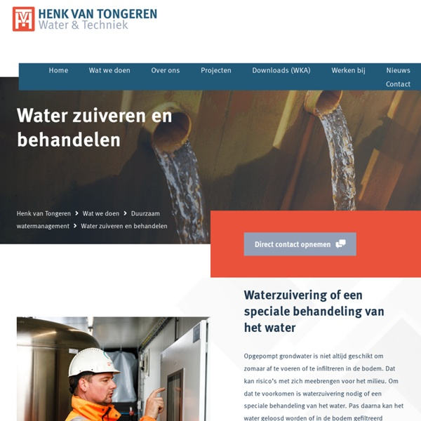 Water zuiveren en behandelen - Henk van Tongeren