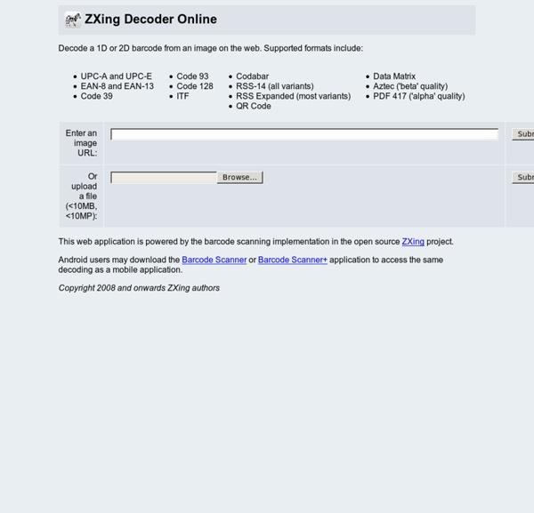1D and 2D Barcode Decoder Online