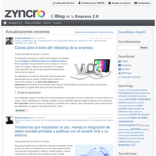 Zyncro Blog: el blog de la empresa 2.0 « Zyncro Blog: el blog de la empresa 2.0 - Nightly (Build 20130502030939)