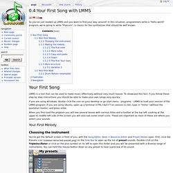 Your First Song with LMMS - LMMS-Wiki