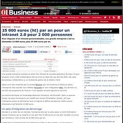 25 000 euros (ht) par an pour un Intranet 2.0 pour 2 000 personnes