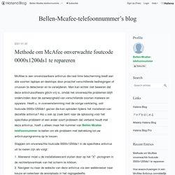 Methode om McAfee onverwachte foutcode 0000x1200ds1 te repareren - Bellen-Mcafee-telefoonnummer's blog