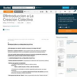 13105490 01Introduccion a La Creacion Colectiva