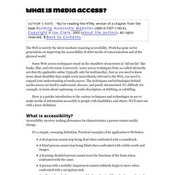 04. What is media access?