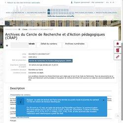 Les Cahiers pédagogiques aux Archives Nationales, accès en ligne