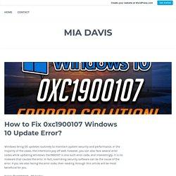 How to Fix 0xc1900107 Windows 10 Update Error?