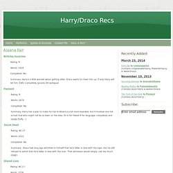 1,000-5,000 Words - Harry/Draco Recs