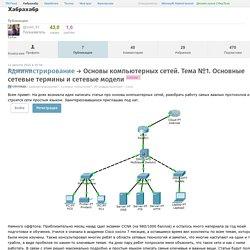 Основы компьютерных сетей. Тема №1. Основные сетевые термины и сетевые модели / Хабрахабр