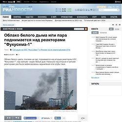 "Облако белого дыма или пара поднимается над реакторами ""Фукусима-1"""