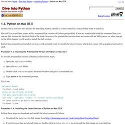 1.3.Python on Mac OS X