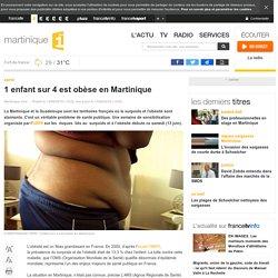 MARTINIQUE 1ERE 13/06/15 1 enfant sur 4 est obèse en Martinique