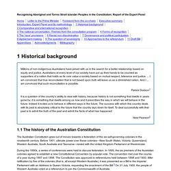 1 Historical background