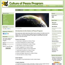 Culture and Peace Program Reading and writing on internet