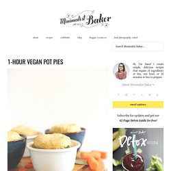 1 Hour Vegan Pot Pies