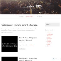 1 minute pour 1 situation – 1 minute d'EPS